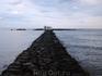 Церковь святого Николая в Георгиуполисе. Церковь построена прямо в море. К ней ведет тонкая 100-метровая дорожка из камней, но можно добраться и вплавь ...