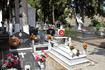 городское кладбище, всё очень скромно и чисто.