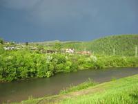 Поселок Базаиха, после грозы