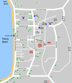 Карта Патонга с магазинами