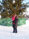 я и дочка на торговой...Холодно