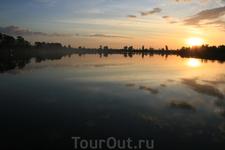 рассвет в Ангкору