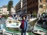 Рим, Испанская площадь.Фонтан Лодочка