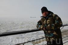 на палубе Сампо, очень холодно