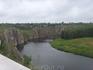 вид на реку с территории местного санатория