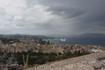 Непогода- очень завораживает. Вдалеке большой паром. Вид на город с крепости.