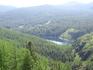 Озера Уч-Кель (здесь видно третье озеро)