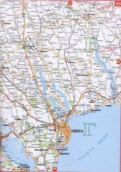 Карта города Одесса