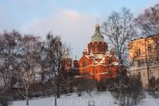 Наверно, единственная красивая церковь в Хельсинки