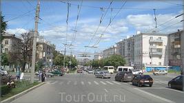 перекрёсток проспекта Ленина и улицы Гагарина