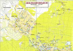 Подробная карта Железноводска