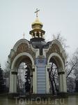 На территории монастыря.