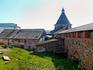 Внутренний двор монастыря и монастырские стены.