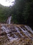 красоты Плесецких водопадов открывается после долгого  мокрого пути