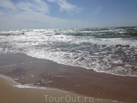 мореее...пляж города Вентспилс, отмеченный голубым флагом ЕС