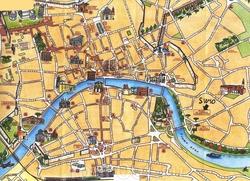 Туристическая карта Пизы со всеми достопримечательностями