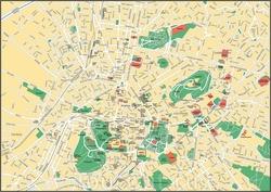 Карта Афин с достопримечательностями