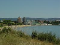 """Вид на южный пляж со стороны """"дикого"""" пляжа"""