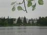 Озеро, окруженное парком