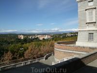 Мадрид. Королевский дворец. Вид из дворца