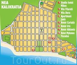 Карта отелей Неа Калликратии