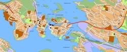 Карта Савонлинны с магазинами