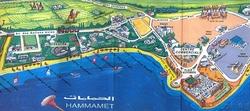 Хаммамет на карте Туниса