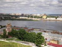 Строгановская церковь, Ока и Кафедральный Собор Александра Невского