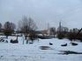 Вид на костел (на другом берегу реки)