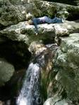 Один из водопадов реки Агура