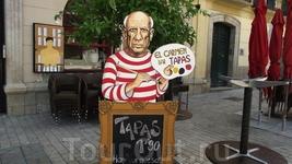 Malaga - Пикассо как зазывала