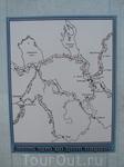 Карта-схема основных водных путей древних новгородцев.