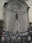 """Брюссель, Бельгия, памятник-фонтан """"Писающий мальчик"""""""
