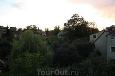 Калининград. Вид из мансардного окна номера