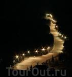 Ночная горнолыжная трасса...