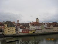 Набережная Регенсбурга - Дунай
