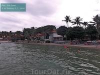 пляж при отеле Ризотел