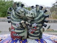 Фонтан - влюбленные зебры