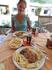 Обед в кафе обошелся в 20 евро на 2 -х. Все было очень вкусно.
