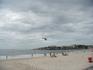 Полицейский вертолет постоянно кружит над пляжем, во-первых в целях предотвращения правонарушений, которых там предостаточно, во-вторых, в помощь спасателям ...
