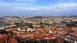 Прага с высоты птичьего полета