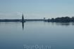 По пути проплывали славный русский город Калязин. Колокольня Калязинского  Николаевского собора , все что осталось от прекрасного памятника .