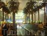 живые пальмы в аэропорту