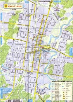 Карта Луги для туристов