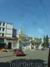 Петрозаводский железнодорожный вокзал. Снят через окно уже движущегося автобуса.