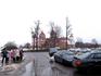 Мирский замок. Вид со стоянки автобуса