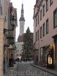узкие улочки - рождественское настроение