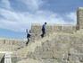 Подъём на Дербентскую крепость - эта стена недавно была отреставрирована.