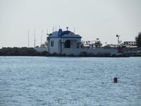 церковь на пристани в Фалираки