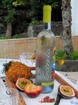 Натюрморт №1...Скромный полдник отдыхающих на Азорах- местные фрукты и замечательное молодое вино (vinho verde)
